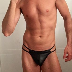 Other - Double String Wet Look Thong